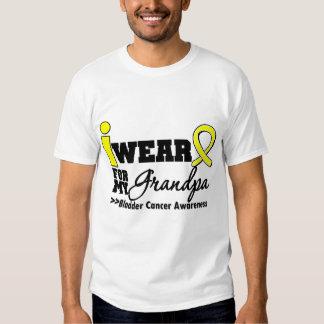 Bladder Cancer I Wear Yellow Ribbon For My Grandpa T-Shirt