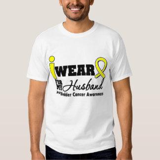 Bladder Cancer I Wear Yellow Ribbon For My Husband T-Shirt