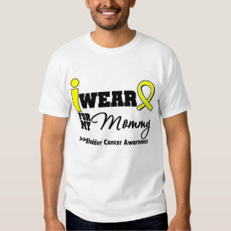 Bladder Cancer I Wear Yellow Ribbon For My Mommy T-Shirt
