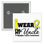 Bladder Cancer I Wear Yellow Ribbon For My Uncle Buttons