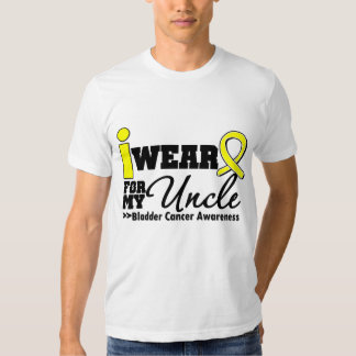 Bladder Cancer I Wear Yellow Ribbon For My Uncle T-Shirt