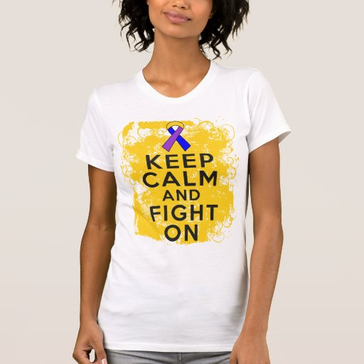 Bladder Cancer Keep Calm and Fight On.png Tees