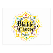 Bladder Cancer Lotus Postcard
