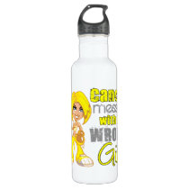 Bladder Cancer Messed With Wrong Girl.png Stainless Steel Water Bottle