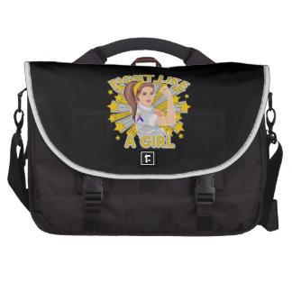 Bladder Cancer Modern Rosie The Riveter Laptop Bag