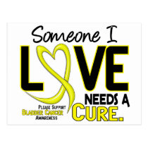 Bladder Cancer NEEDS A CURE 2 Postcard