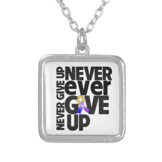 Bladder Cancer Never Ever Give Up Personalized Necklace