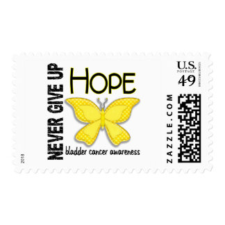 Bladder Cancer Never Give Up Hope Butterfly 4.1 Stamps
