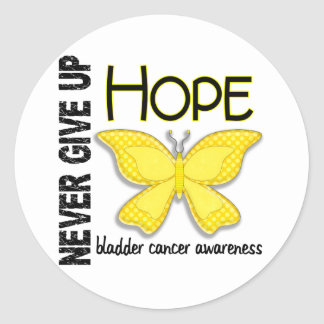 Bladder Cancer Never Give Up Hope Butterfly 4.1 Classic Round Sticker