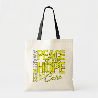 Bladder Cancer Peace Love Cure Canvas Bag