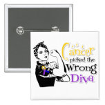 Bladder Cancer Picked The Wrong Diva Pinback Button
