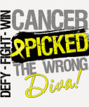 Bladder Cancer Picked The Wrong Diva T-shirt