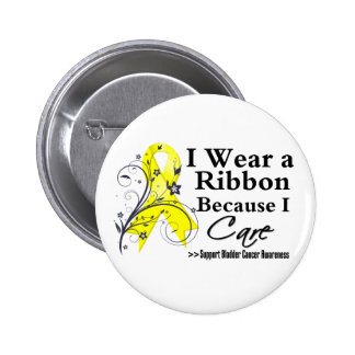 Bladder Cancer Ribbon Because I Care Pin