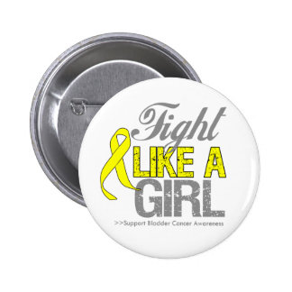 Bladder Cancer Ribbon - Fight Like a Girl Pinback Buttons