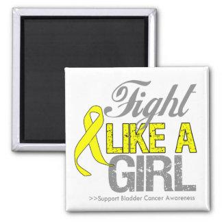 Bladder Cancer Ribbon - Fight Like a Girl Magnets
