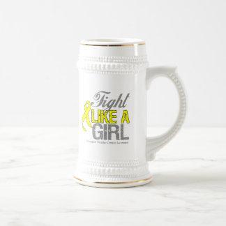 Bladder Cancer Ribbon - Fight Like a Girl Coffee Mugs