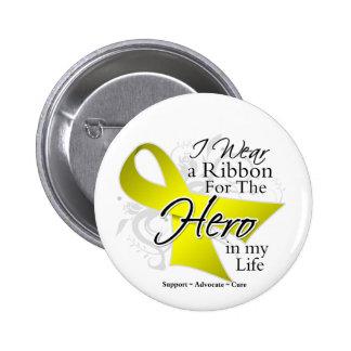 Bladder Cancer Ribbon Hero in My Life Pins