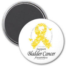 Bladder Cancer Ribbon Of Butterflies Magnet
