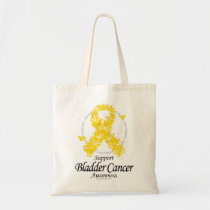 Bladder Cancer Ribbon Of Butterflies Tote Bag