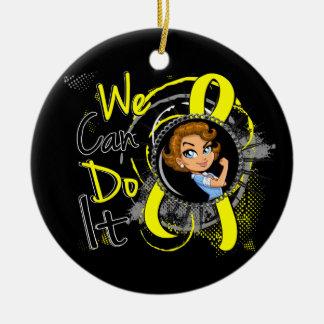 Bladder Cancer Rosie Cartoon WCDI Christmas Tree Ornaments