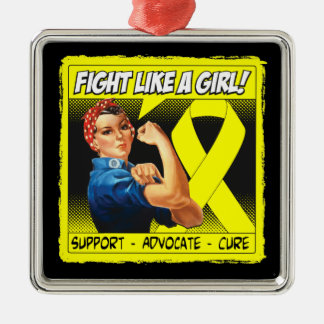 Bladder Cancer Rosie Riveter - Fight Like a Girl Ornaments