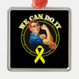Bladder Cancer - Rosie The Riveter - We Can Do It Christmas Tree Ornaments