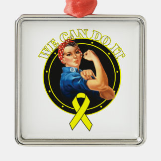 Bladder Cancer - Rosie The Riveter - We Can Do It Christmas Ornament