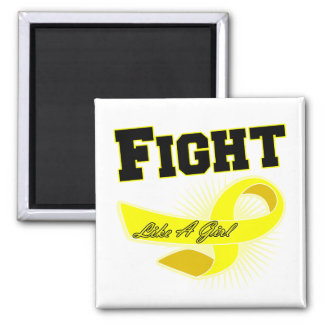 Bladder Cancer Sporty Fight Like A Girl Refrigerator Magnet