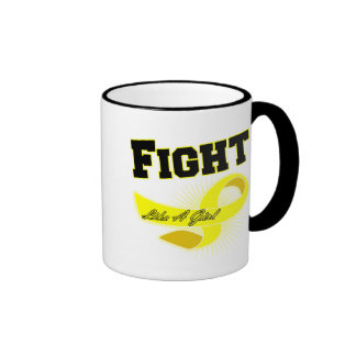 Bladder Cancer Sporty Fight Like A Girl Mugs