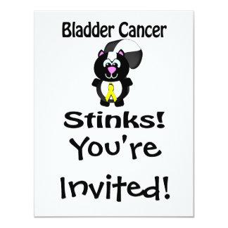 Bladder Cancer Stinks Skunk Awareness Design 4.25x5.5 Paper Invitation Card