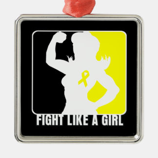 Bladder Cancer Strength Fight Like A Girl Christmas Ornaments