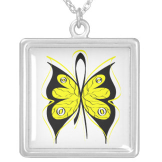 Bladder Cancer Stylish Butterfly Awareness Ribbon Custom Jewelry