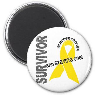 Bladder Cancer Survivor 2 Inch Round Magnet