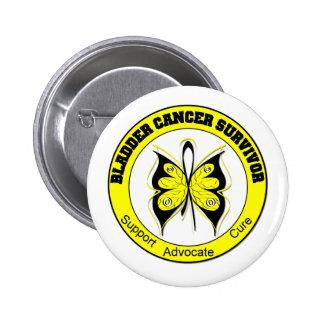 Bladder Cancer Survivor Butterfly Pinback Button