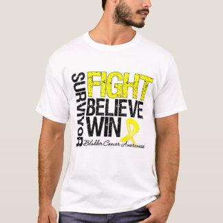 Bladder Cancer Survivor Fight Believe Win Motto T-Shirt