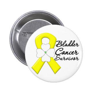 Bladder Cancer Survivor Flower Ribbon Pin