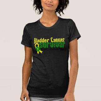 Bladder Cancer Survivor Flower Ribbon T-Shirt