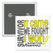 Bladder Cancer Survivor It Came We Fought I Won Pinback Button
