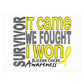Bladder Cancer Survivor It Came We Fought I Won Postcard