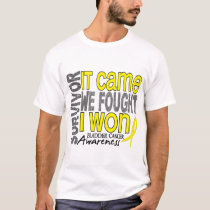 Bladder Cancer Survivor It Came We Fought I Won T-Shirt