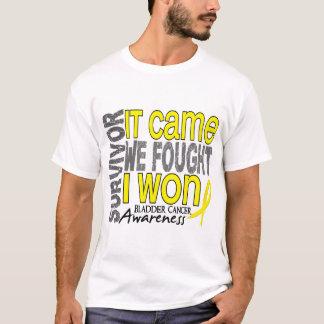 Bladder Cancer Survivor It Came We Fought I Won T-Shirt