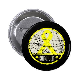 Bladder Cancer Survivor Mens Vintage Buttons