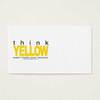Bladder Cancer THINK Yellow Business Card