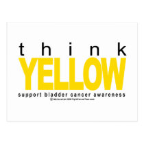 Bladder Cancer THINK Yellow Postcard