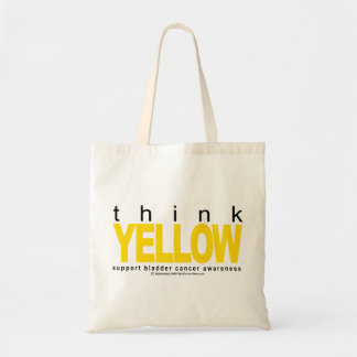 Bladder Cancer THINK Yellow Tote Bag
