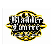 Bladder Cancer Tribal Postcard