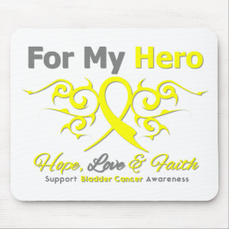 Bladder Cancer Tribal Ribbon Hero Mouse Pads