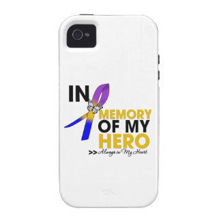 Bladder Cancer Tribute In Memory of My Hero Case-Mate iPhone 4 Cases