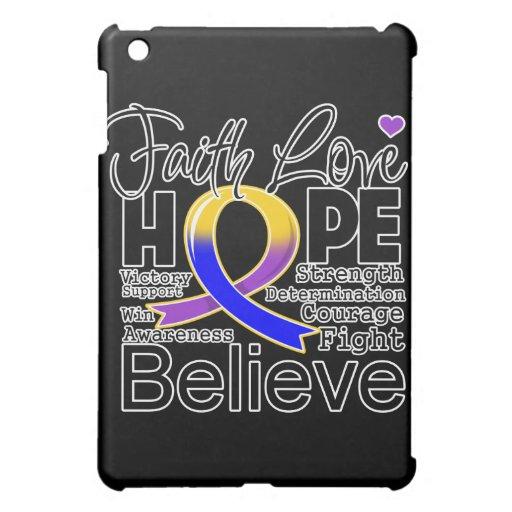 Bladder Cancer Typographic Faith Love Hope iPad Mini Cover