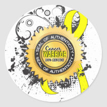 Bladder Cancer Warrior 23 Classic Round Sticker